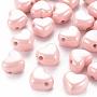 Pink Heart Acrylic European Beads(MACR-S372-03B-82)