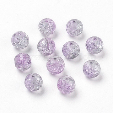10mm Plum Round Glass Beads