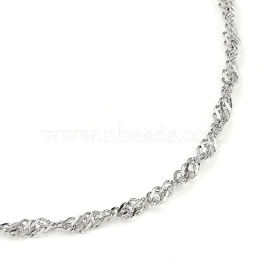 304 Stainless Steel Singapore Chain Necklaces(NJEW-JN02930-02)-2
