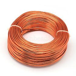Fil d'aluminium, orangered, Jauge 18, 1.0 mm; 200 m / 500 g(AW-S001-1.0mm-12)