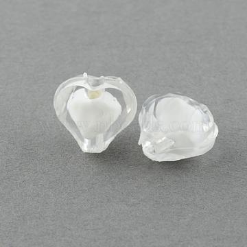 10mm Clear Heart Acrylic Beads