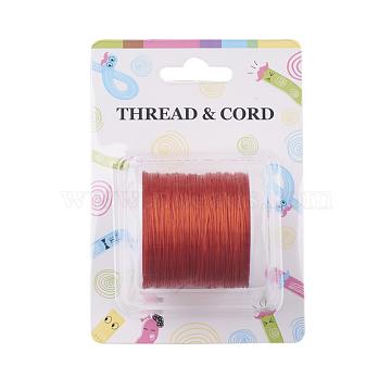 Fil de fibre élastique, orange rouge , 0.8 mm; 60 m / rouleau(X-EW-O001-01O)