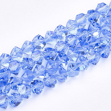 7mm CornflowerBlue Others Glass Beads