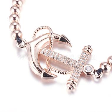 Adjustable Brass Braided Beaded Bracelets(BJEW-F282-22RG-RS)-3