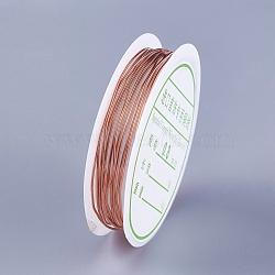 Copper Wire, Rose Gold, 20 Gauge, 0.8mm; 2m/roll(YS-TAC0001-01B-RG)