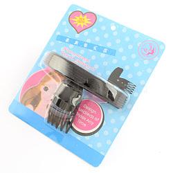 Des coups de cheveux en plastique moelleux outils de coiffage des cheveux, noir, 80x120x45mm(OHAR-R095-47)