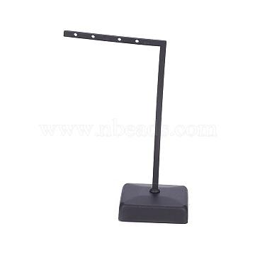 Iron Earring Displays, Jewelry Display Rack, Jewelry Tree Stand, Gunmetal, 7x12.2cm(X-EDIS-L006-09B)