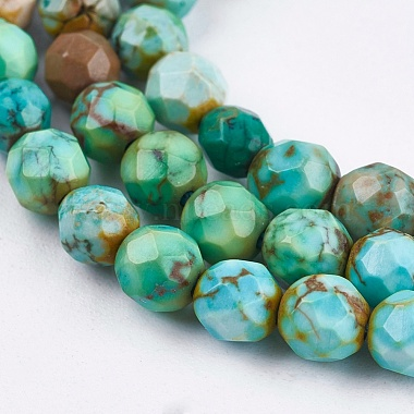 Dyed & Heated Natural Howlite Beads Strands(TURQ-F010-04A-4mm)-2