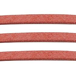 Lightcoral ton daim cordon, dentelle de faux suède, environ 1 m de long,  largeur de 2.5 mm, environ 1.4 mm d'épaisseur, 1 m / chapelet(X-LW14190Y)