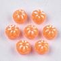 10mm DarkOrange Fruit Resin Cabochons(X-CRES-S304-097)