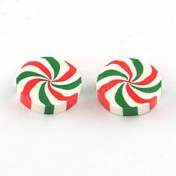 Plats ronds cabochons en argile polymère fait main, colorées, 20~21x5mm(CLAY-S085-12)
