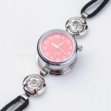 Латунный браслет с часами(BJEW-JB02667)-2