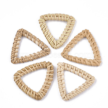 38mm BurlyWood Triangle Rattan Linking Rings