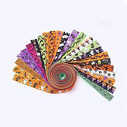 "Ruban polyester grosgrain pour halloween, couleur mixte, 1"" (25mm); environ 1 m / brin, 24strand / set(SRIB-X0001-01)"