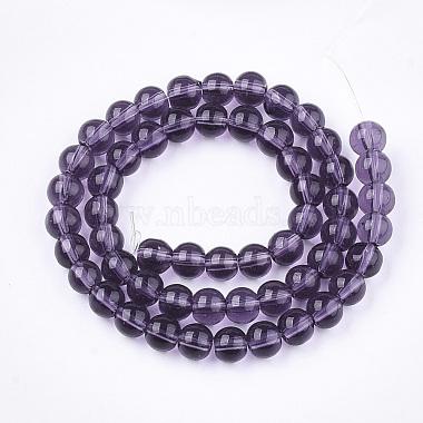 Glass Beads Strands(X-GR6mm06Y)-2
