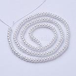 3mm White Round Glass Beads(X-HY-3D-B01)