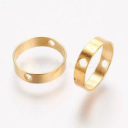 Brass Bead Frames, Ring, Golden, 12x3mm, Hole: 1mm(X-KK-F696-12mm-G)