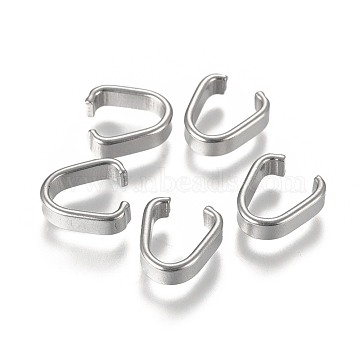 304 Stainless Steel Open Quick Link Connectors, Linking Rings, Stainless Steel Color, 9x8x3mm(X-STAS-L238-044E-P)