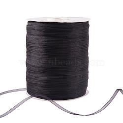 """Ruban d'organza, noir, 1/8"""" (3 mm); 1000yards / roll (914.4m / roll)(RS3mmY039)"""
