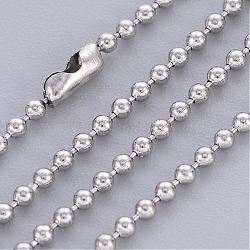 """Acier inoxydable balle création de collier de chaîne , 23.6"""" (60cm); 1.5mm(X-IFIN-R114-1.5mm)"""
