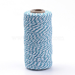 Cordons de coton, bleu foncé, 1.5~2 mm; environ 100 mètres / rouleau(YC-R007-21)