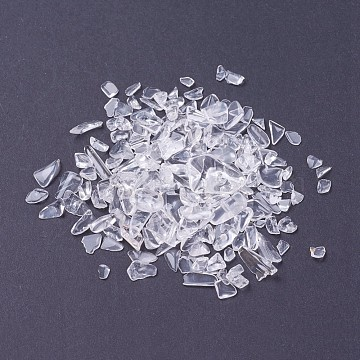 Natural Crystal Beads, No Hole/Undrilled, Chips, 6~12x4~6mm, about 50g/bag(G-J370-08)