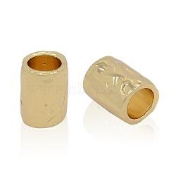 perles en alliage d'or sans cadmium et sans nickel et sans plomb, plaqué longue durée, or, 20.5x14.5 mm, trou: 12 mm(PALLOY-J219-007-NR)