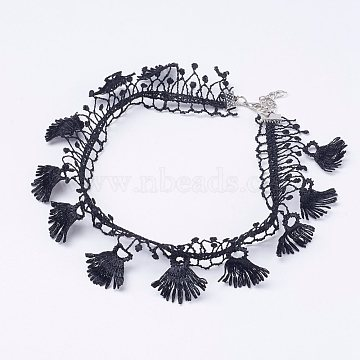 Black Cloth Necklaces