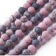 Frosted Natural Rhodonite Round Bead Strands(G-E487-12-8mm)-1