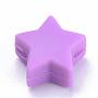 14mm Violet Foncé Étoile  Silicone Perles(X-SIL-T041-04)
