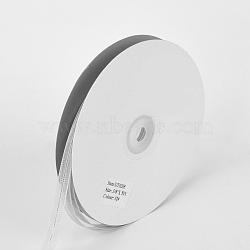 """Ruban d'organza, gris clair, 3/8"""" (9 mm); environ 50yards / rouleau (45.72m / rouleau)(ORIB-Q031-9mm-02)"""