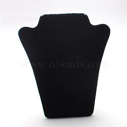 Affichage collier de velours buste, noir, 220x170x10mm(NDIS-R004-04)