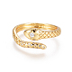 Brass Micro Pave Clear Cubic Zirconia Cuff Rings(RJEW-L097-02G)-1