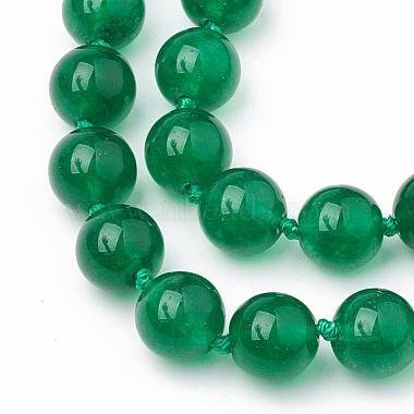 Natural Malaysia Jade Beaded Necklaces(NJEW-S404-18)-2