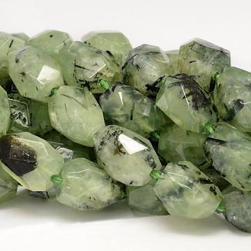 18mm Nuggets Prehnite Beads