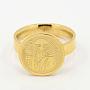 модная 304 кольца из нержавеющей стали, плоские круглые с Сан-Бенито, золотой, 16~19 mm