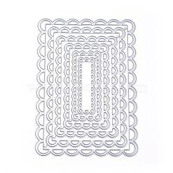 cadre métal coupe pochoirs, pour bricolage scrapbooking / album photo, carte de papier de bricolage décoratif, rectabgle, matte platine, 140x98x0.8 mm(DIY-WH0105-05)