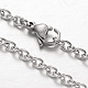 304 Stainless Steel Cable Chain Necklaces(NJEW-L418-02P)-1