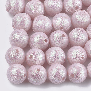 19mm Pink Round Polyester Beads