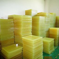 Pu plaque d'amortissement, polyuréthane plaque carrée, die plaque de coupe, boeuf plaque de tendon, feuille de caoutchouc élastique de coussin die, or, 10x10x2 cm(TOOL-A008-01)