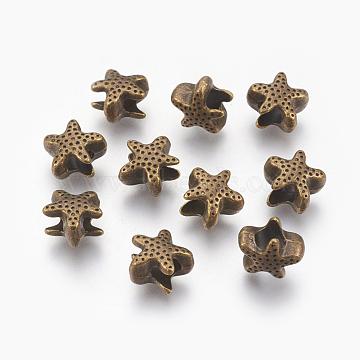 11mm Starfish Alloy Beads