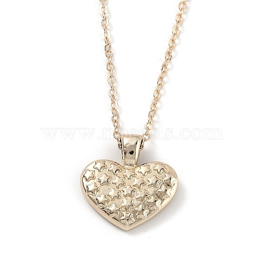 Golden Plated Heart with Constellation/Zodiac Sign Alloy Enamel Pendant Necklaces(NJEW-H214-A05-G)-2