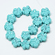 Carved Synthetic Turquoise Beads Strands(G-T122-08I)-2