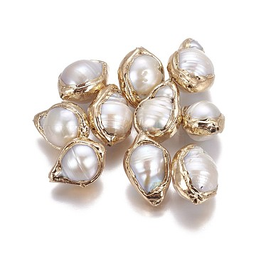 16mm White Nuggets Pearl Beads