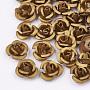 DarkGoldenrod Flower Aluminum Beads(X-FALUM-T001-02A-07)