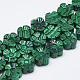 Carved Synthetic Malachite Beads Strands(G-T122-08H)-1