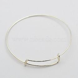 Регулируемые железные браслеты материалы, платина, 71 мм(MAK-N020-01P)