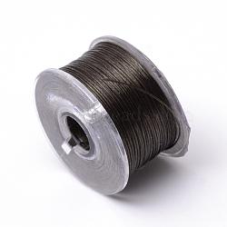Fils de polyester spécialement revêtus pour les perles de graines, coconutbrown, 0.1 mm; environ 50 mètres / rouleau(OCOR-R038-06)