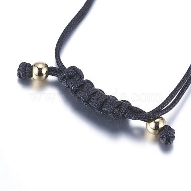 Adjustable Brass Braided Beaded Bracelets(BJEW-F282-26G-RS)-4