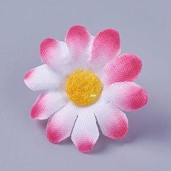 tournesol en tissu de soie, tête de fleur artificielle, pour la décoration de fête de mariage, fuchsia, 40x16~17 mm; diamètre intérieur: 2 mm(DIY-WH0134-A16)